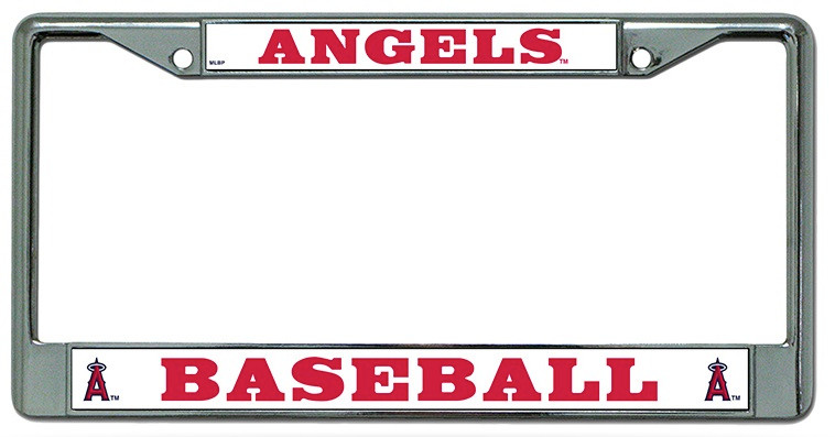 Los Angeles Angels of Anaheim License Plate Frame Chrome